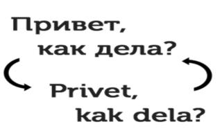 Транслитерация с русского на английский