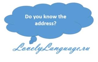 Как узнать адрес на английском языке - диалог для начинающих