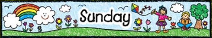 Воскресенье на английском языке
