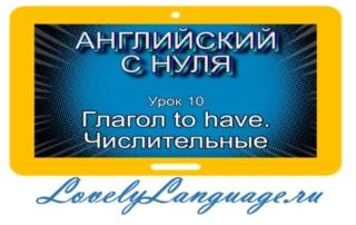 Глагол to have и числительные - урок 10 - английский с нуля