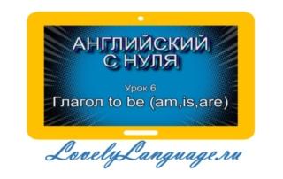 Глагол to be (am, is, are) — урок 6 — английский с нуля