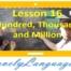 Сотня, тысяча и миллион - 16 урок - английский для начинающих с Дженнифер
