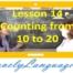 Счет от 10 до 20 - 14 урок - английский для начинающих с Дженнифер