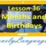 Месяцы и дни рождения - 36 урок - английский для начинающих с Дженнифер