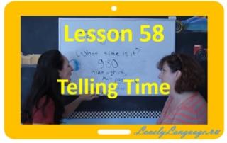 Время - 58 урок - английский для начинающих с Дженнифер